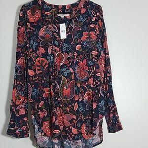 NWT Loft Floral Tunic